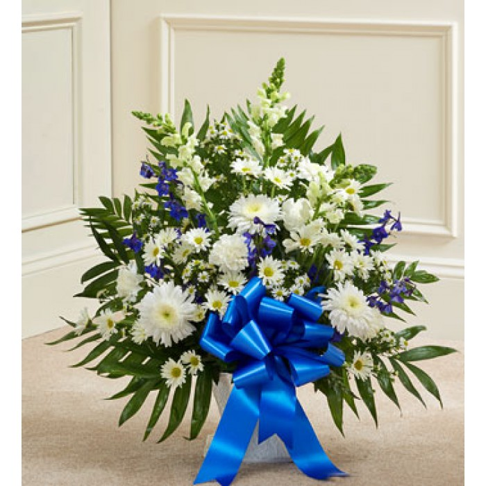 Deepest condolences blue and white flowers send to philippines mightylinksfo