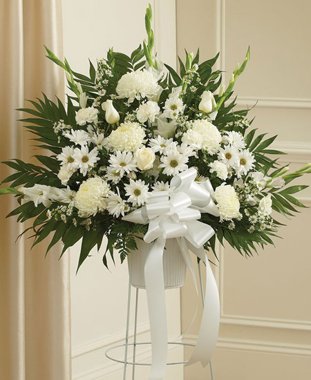 Deepest sympathies white flowers send to philippines deepest sympathies blue and white flowers send to philippines mightylinksfo