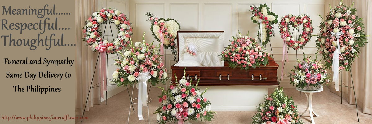 send Sympathy funeral flowers to Pilippines
